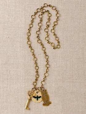 Be-wise Owl And Bee Necklace