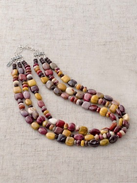 Mookaite Three-strand Necklace