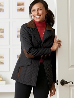 Trimmed Quilted Coat