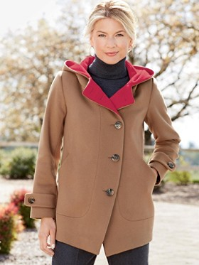 Hooded Topper Coat