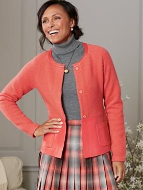 Wool/leather Mixed Media Jacket