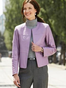 Lena Leather Zip Jacket