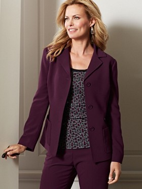 Travel Tricotine Three-button Blazer