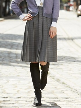 Worsted Wool Perfect Pleat Skirt