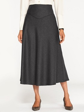 Worsted Flannel Trimmed Touring Skirt