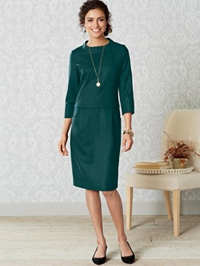 Worsted Wool Flannel Jenna Dress