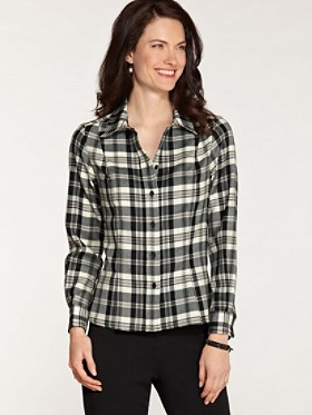 Worsted Wool Plaid Ponderosa Shirt