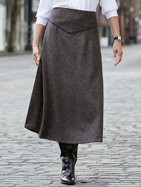 Donegal Tweed Trimmed Touring Skirt
