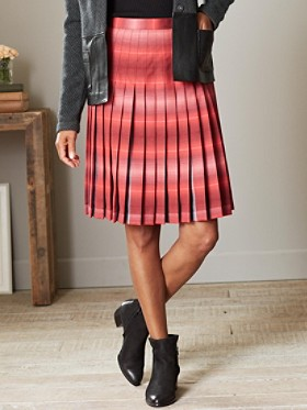 "22"" Reversible Pleated Skirt"