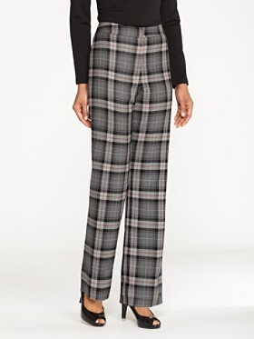 Worsted Wool Plaid Madison Trousers