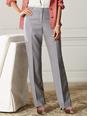 Check Worsted Wool Madison Trousers