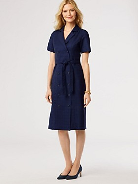 Wool-lin Double-breasted Dress