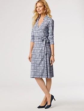 Medallion Print Wrap Knit Dress