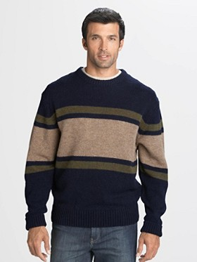 Shetland Wool Rugby Stripe Sweater