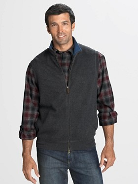Full-zip French Rib Vest