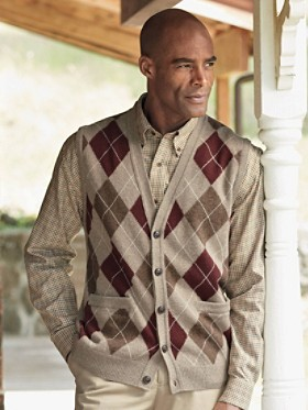 Argyle Cardigan Vest