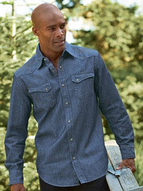Fitted Gambler Denim Shirt