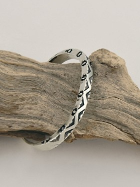 Sterling Silver Cuff With Mountains