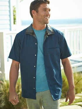 Short-sleeve Tony Wool Camp Shirt