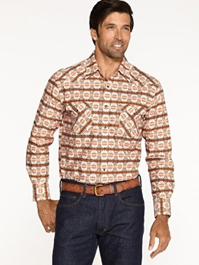 Fitted Print Frontier Shirt