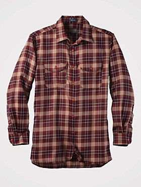 Worsted Wool Fitted Buckley Shirt