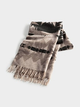 Sonora Jacquard Fringed Scarf