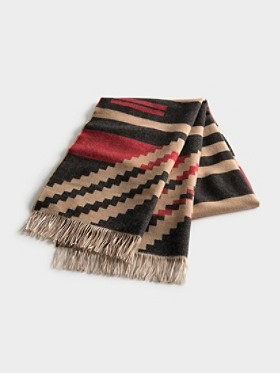 Pinyon Stripe Fringed Scarf
