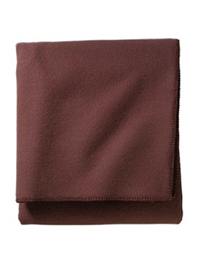 Eco-wise Wool Solid Easy-care Blanket
