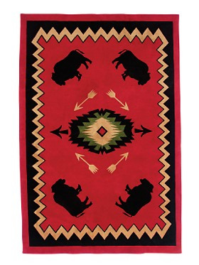 Buffalo Lodge Wool Rug