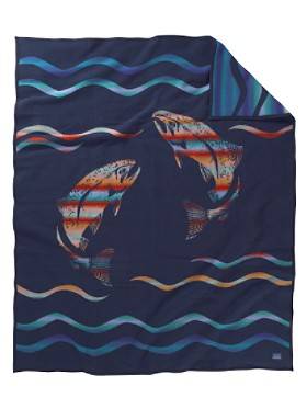 Spirit Of The Salmon Twin Blanket