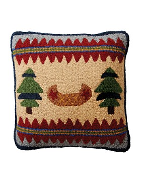 Canoe Hooked Toss Pillow