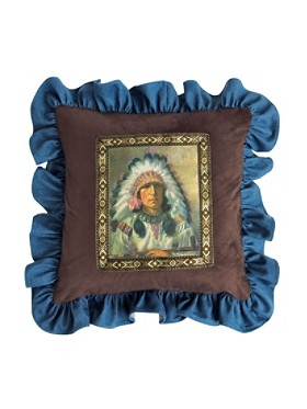 Chief White Feather Pillow