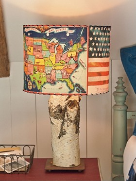 Handmade Americana Lamp