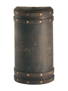Barrel Leather Lamp Base