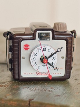 Vintage Brownie Holiday Clock