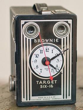Vintage Box Camera Clock