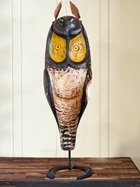 Handcarved Horned Owl