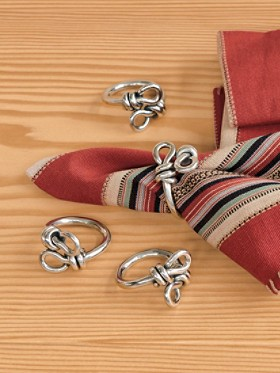 Hand-twisted Taos Napkin Rings, Set Of 4