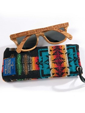 Wood Sunglasses With Wool Case