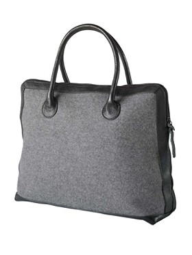 Square Leather-trim Tote