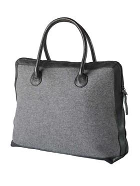 Square Leather-trim Tote