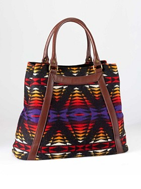 Leather-trim Tote
