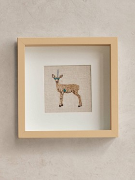 Framed Stitched Artwork - Deer