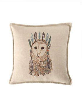 Owl Portrait Pillow