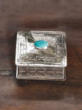 German Silver Square Box