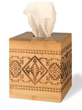 Bamboo Basket Tissue Holder