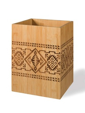 Bamboo Basket Waste Basket