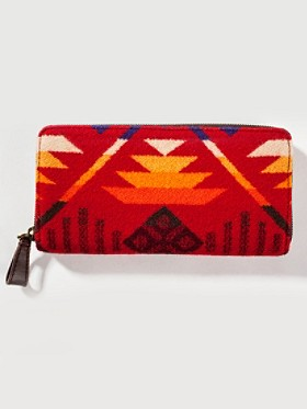 Coyote Butte Jacquard Zipper Wallet