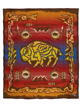 Buffalo Creation Story Blanket