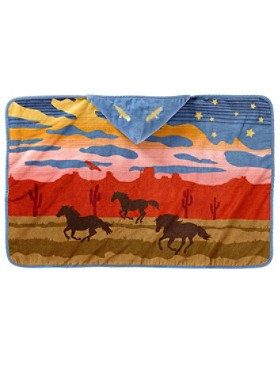 Wild Horses Hooded Baby Towel